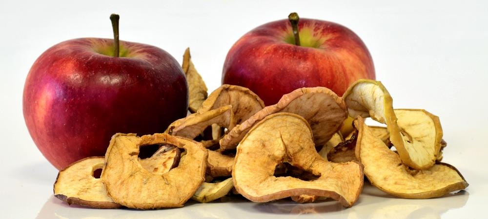 Schonend Äpfel dörren