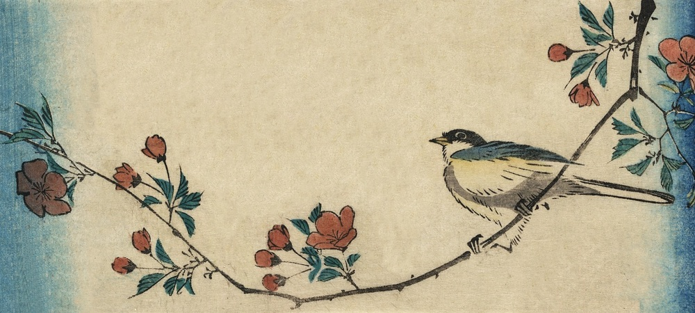 Japanische Kunst in Form von einem grafischen Aquarell
