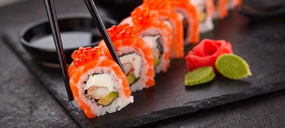 Japanische Sushi Zubereitung
